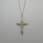 Black Hills Gold Sterling Silver cross necklace