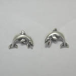 Sterling Silver small Dolphin post earrings