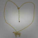 14 karat yellow gold Pinto Horse necklace