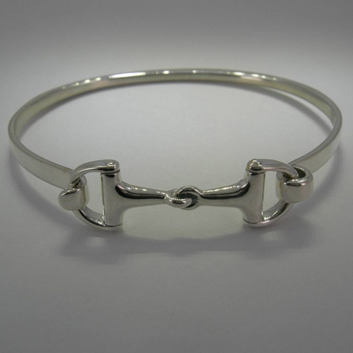 Sterling Silver snaffle bit bangle bracelet