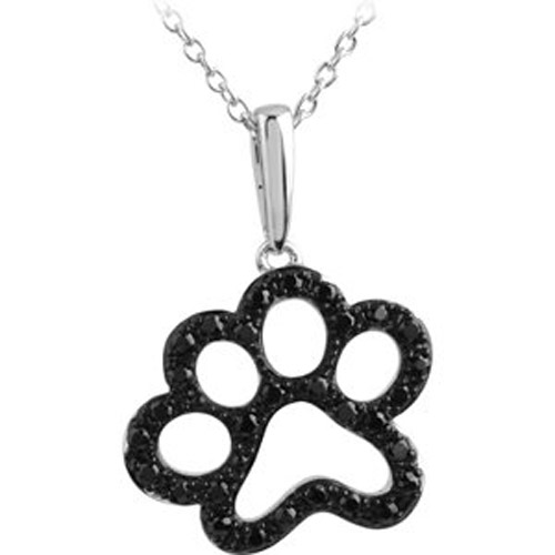 Sterling SIlver Tender Voices Animal Paw Print Necklace