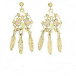 Black Hills Gold Dream Catcher earrings