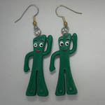Gumby dangle earrings