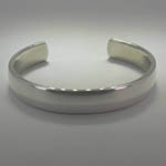 different angle of Sterling Silver plain cuff bracelet