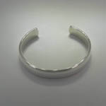 another angle of Sterling Silver plain cuff bracelet