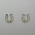 Black Hills Gold Sterling Silver horse shoe post earrings