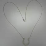 Custom Sterling Silver horse shoe necklace