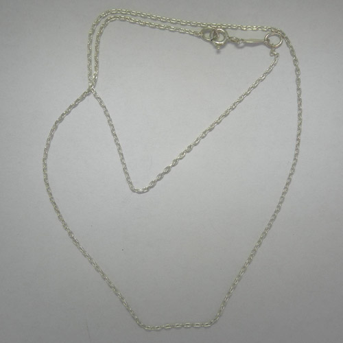 Sterling Silver 16 inch cable link chain