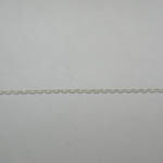 Sterling Silver 16 inch cable link chain close up