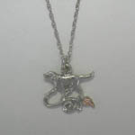Black Hills Gold Sterling Silver Labrador Retriever dog necklace