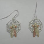 Black Hills Gold Sterling Silver Dream Catcher earring