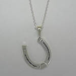 Sterling Silver large horse shoe necklace