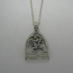 Sterling Silver hunter jumper necklace