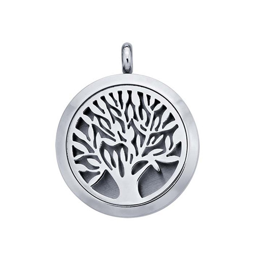 Stainless Steel Essential Oil Tree diffuser necklace