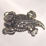 Sterling Silver textured Horned Toad brooch
