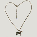 14 kt.y.g.plated Paso Fino Horse full view necklace