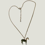 14 kt yg plated Quarter Horse pendant and chain