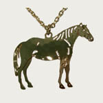 14 kt yg plated Quarter Horse necklace