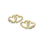 Blach Hills Gold double heart post earrings