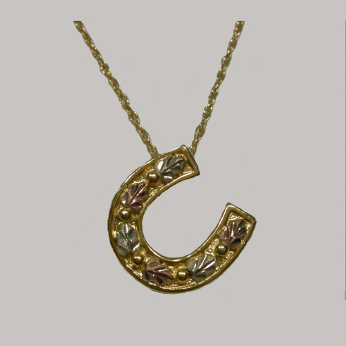 Landstrom's Black Hills Gold horseshoe necklace