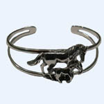 Full view of Sterling Silver mare and foal cuff bracelet