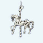 Sterling Silver carousel horse pendant/charm