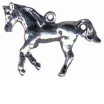 Sterling Silver trotting horse pendant/charm
