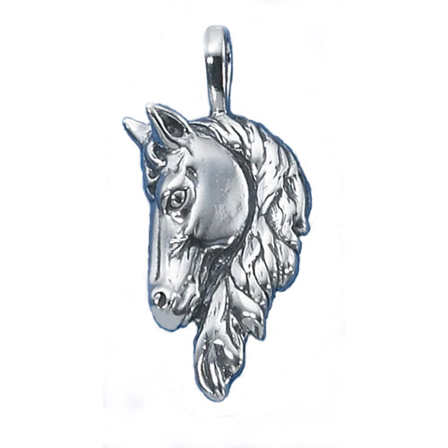 Sterling Silver horsehead pendant