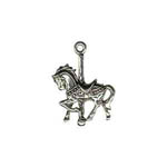Sterling Silver carousel horse with full mane charm/pendant