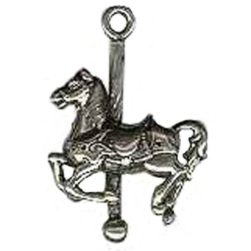 Sterling Silver carousel horse with high head charm/pendant