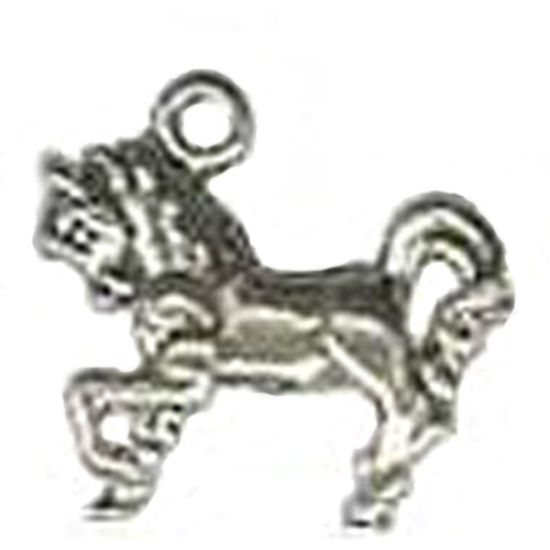 Sterling Silver small trotting horse charm/pendant