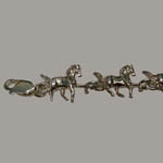 Sterling Silver close up of horse link bracelet