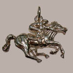 Sterling Silver racehorse charm/pendant