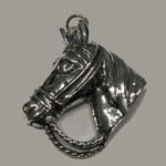 Sterling Silver horsehead in bridle pendant