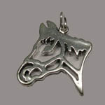 Sterling Silver open horsehead pendant