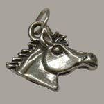 Sterling Silver small horsehead charm/pendant