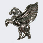 Sterling Silver 3 D small Pegasus charm/pendant