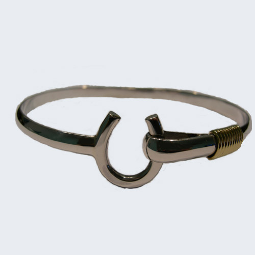 Sterling Silver vermiel horseshoe bangle bracelet