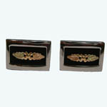 Landstrom's Black Hills Gold Sterling Silver cuff links
