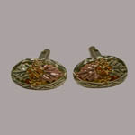 Landstrom's Black Hills Gold grape and leaf cuff links