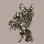 Sterling Silver rearing Pegasus charm/pendant
