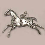 Sterling Silver galloping Indian Pony pendant