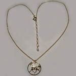 14 kt.y.g. plated prancing Pinto full necklace
