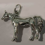 Sterling Silver standing horse charm/pendant