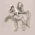 Sterling Silver Saddlebred silouette charm/pendant