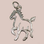 Sterling Silver trotting horse silouette charm/pendant