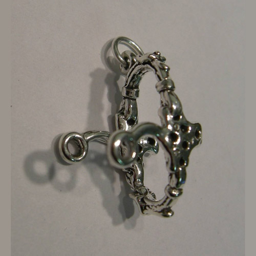 Sterling Silver mechanical hackamore noseband and shank charm/pendant