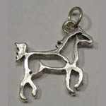 Sterling Silver trotting silhouette horse charm/pendant