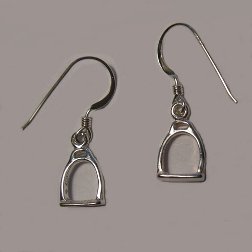 Sterling Silver English Stirrup dangle earrings