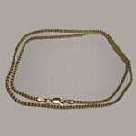 14 kt.y.g. 20 inch Double Wheat chain